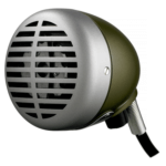 Shure Green Bullet Wired Microphone Hire London and Surrey